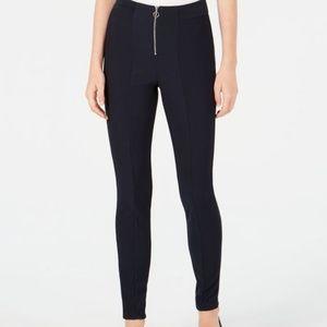 Be Bop Juniors' Ribbed Zip Ponté-Knit Pants